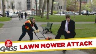 Lawn Mower Attack - funny joke