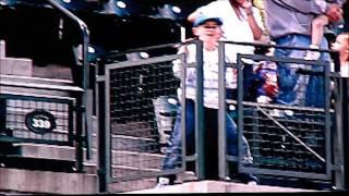 Kid dancing to Thriller at Safeco field