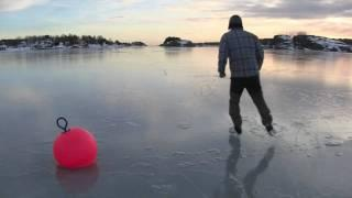 A Norwegian man dives headfirst into a freezing lake