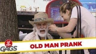 Old man's hearing aid - Funny prank