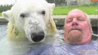 The Only Man In The World Who Can Swim With A Polar Bear
