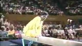 Paul Hunt gymnastics comedy beam routine