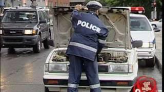 Hidden Camera: Cop wrecks car