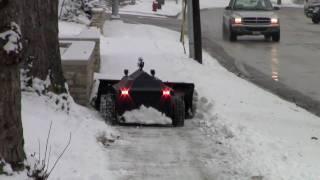 Roboplow -  snow plowing robot