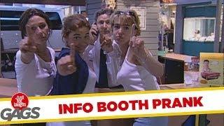Information booth waiting line - funny prank