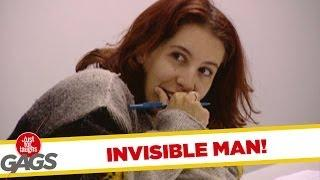 Invisible man at the door - crazy prank