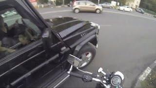 Russian motorcycle-riding girl takes sweet revenge on road trolls