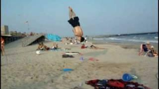 Fitballing at Rockaway beach