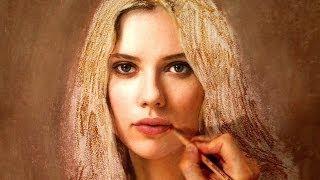 Drawing Scarlett Johansson - Art Portrait