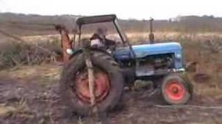 How to get a tractor out of the mud