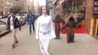 Star Wars Princess Leia Walking in New York