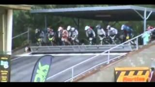BMX race start went wrong - Massive fail