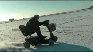 70MPH Mobility Scooter on the Snow