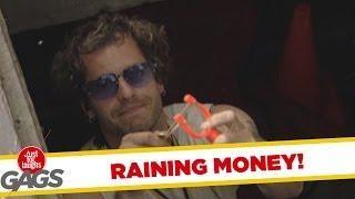 Raining Money - Crazy Prank
