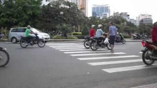 Crossing a street in Vietnam