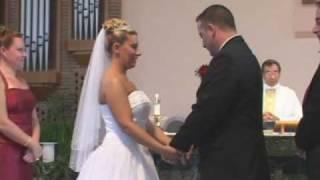 Bride and Groom can't stop laughing