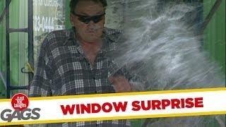 Window washing surprise