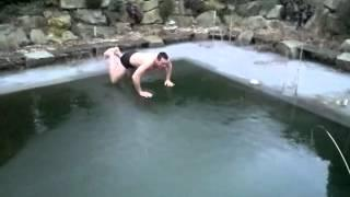 Catch the Ice Dude - Frozen Pool Jump Fail