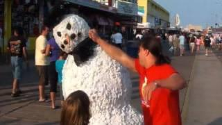 Snowman Scary Prank Gone Wrong - Knock Out