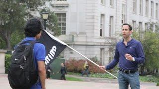 Berkeley students' surprising reaction to ISIS and Israel flags on campus - social experiment