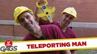 Teleporting Worker - crazy prank