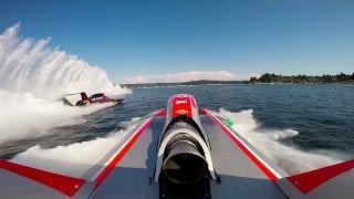 Awesome GoPro footage of 200mph hydroplane racing