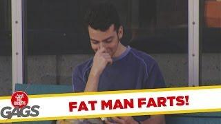 Fat Man Farts - crazy joke