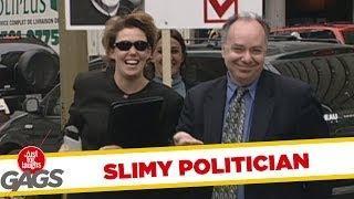 Slimy politician handshake - funny prank