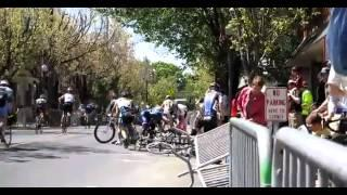 Bicycle Race Pile Up Crash