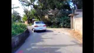 Biker Throws Trash BACK into Car
