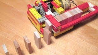 Lego domino building machine