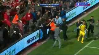 Disgrace for Israeli soccer as hooligan storms the pitch | Maccabi vs Hapoel