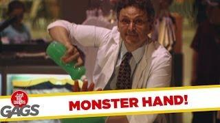 Unexpected Monster Bowl Hand - Crazy Prank