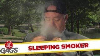 Sleeping Smoker - Funny Joke
