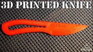 3D Printed Knife - Will It Cut The Paper?