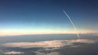 Space Shuttle Launch: Viewed From an Airplane