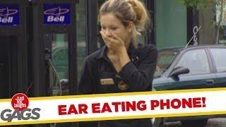 Ear Eating Phone - crazy joke