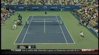 Roger Federer Hits Another Tweener Between The Legs Shot