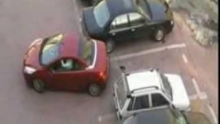 Don't steal this woman's parking lot