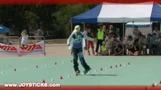 Chinese girl with slalom skills