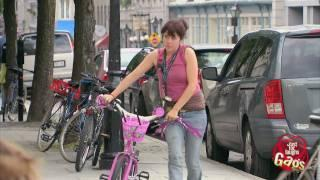 Big Biker, Tiny Pink Bike