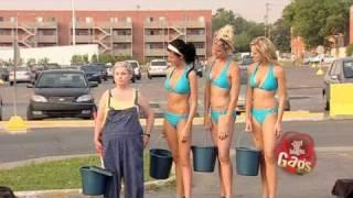 Bikini Car Wash - sexy prank
