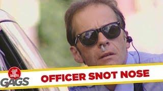 Police officer - snot nose