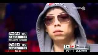Lucky Poker Player Wins 26 Million Dollars - Funny explosion of joy