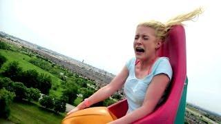 RollerCoaster Ride - Blonde Girl Funny Reaction