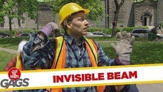 Invisible Beam - crazy prank