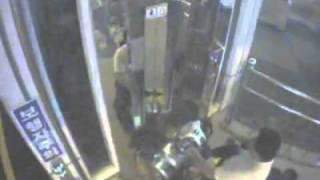 Man falls down elevator shaft