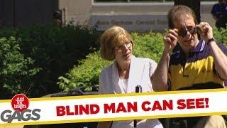 Blind man can see! - funny prank