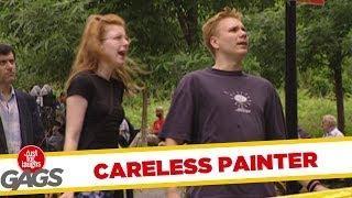 Careless Painter - hidden camera joke