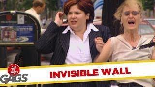 Invisible wall - hidden camera prank